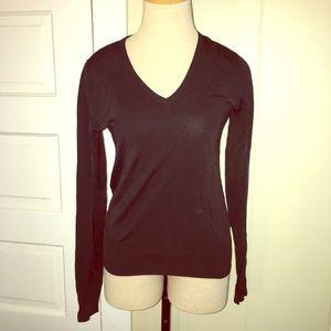 BCBG Mac Azria Black V Neck Long Sleeve Sweater